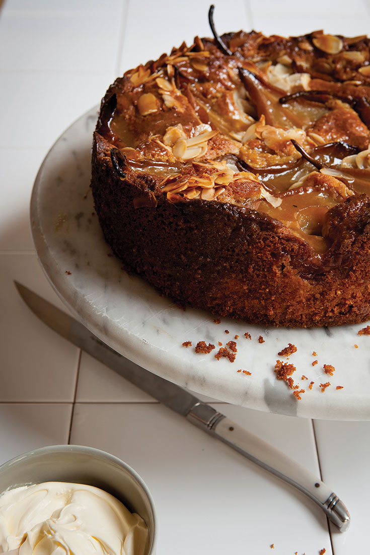 This stunning pear and almond butter cake is a slight twist on the traditional butter cake. But this cake is delicious for afternoon tea or dessert.