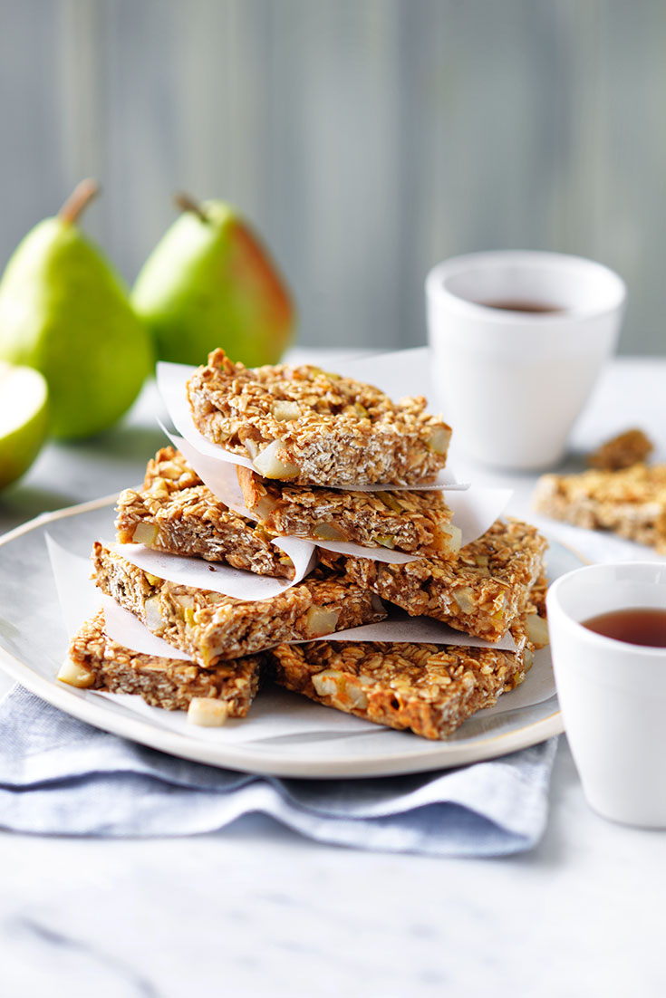 This easy pear and oat slice recipe is a quick and easy snack idea.