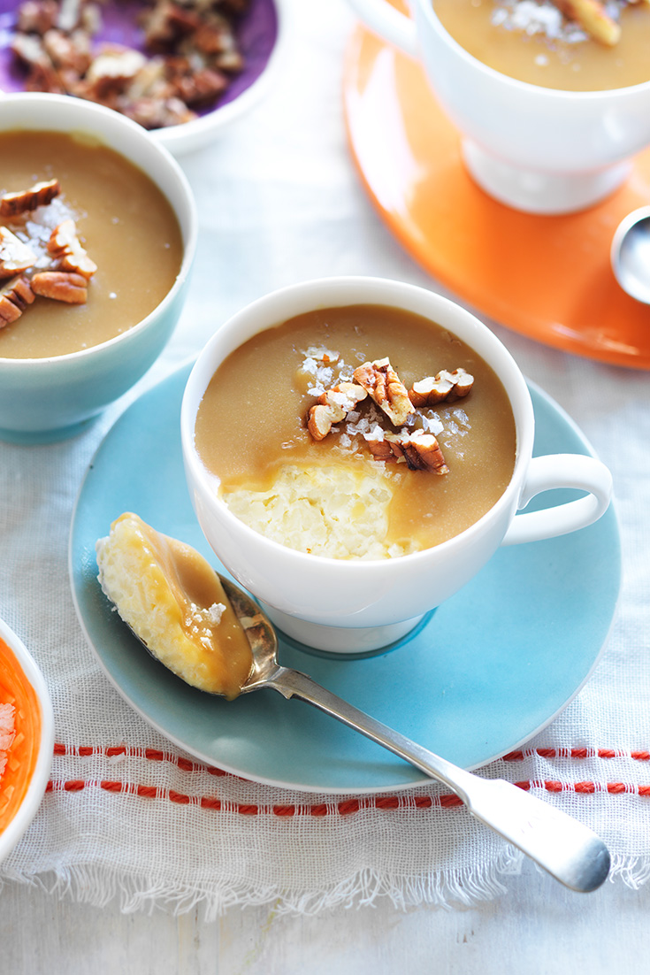 This irresistible salted caramel rice pudding recipe is a sweet way to use up leftover rice.
