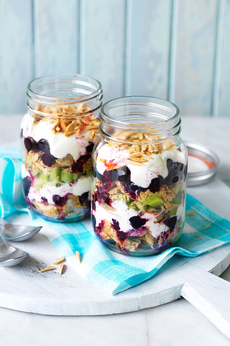 This quick and easy berry-nice weet-bix breakfast in a jar recipe is an ideal dish to enjoy on-the-go.