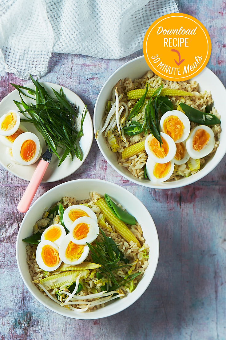 This quick and convenient fired rice recipe with boiled eggs is the ultimate late dinner idea.