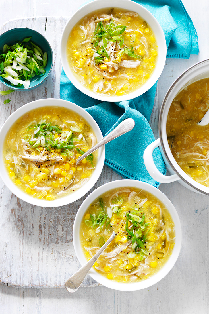 This warming chicken and sweet corn soup recipe is ideal for freezing. Freeze flat for extra room in the freezer.