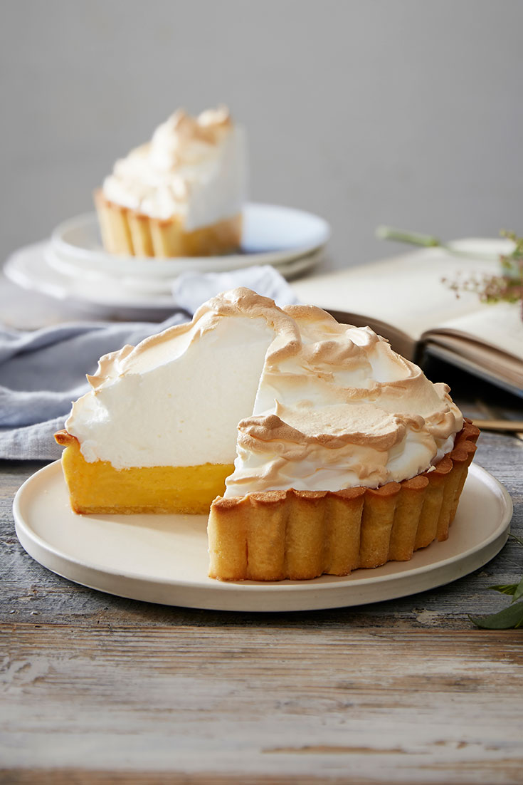 This stunning lemon meringue pie recipe is great for sharing and holds beautiful citrus flavour.