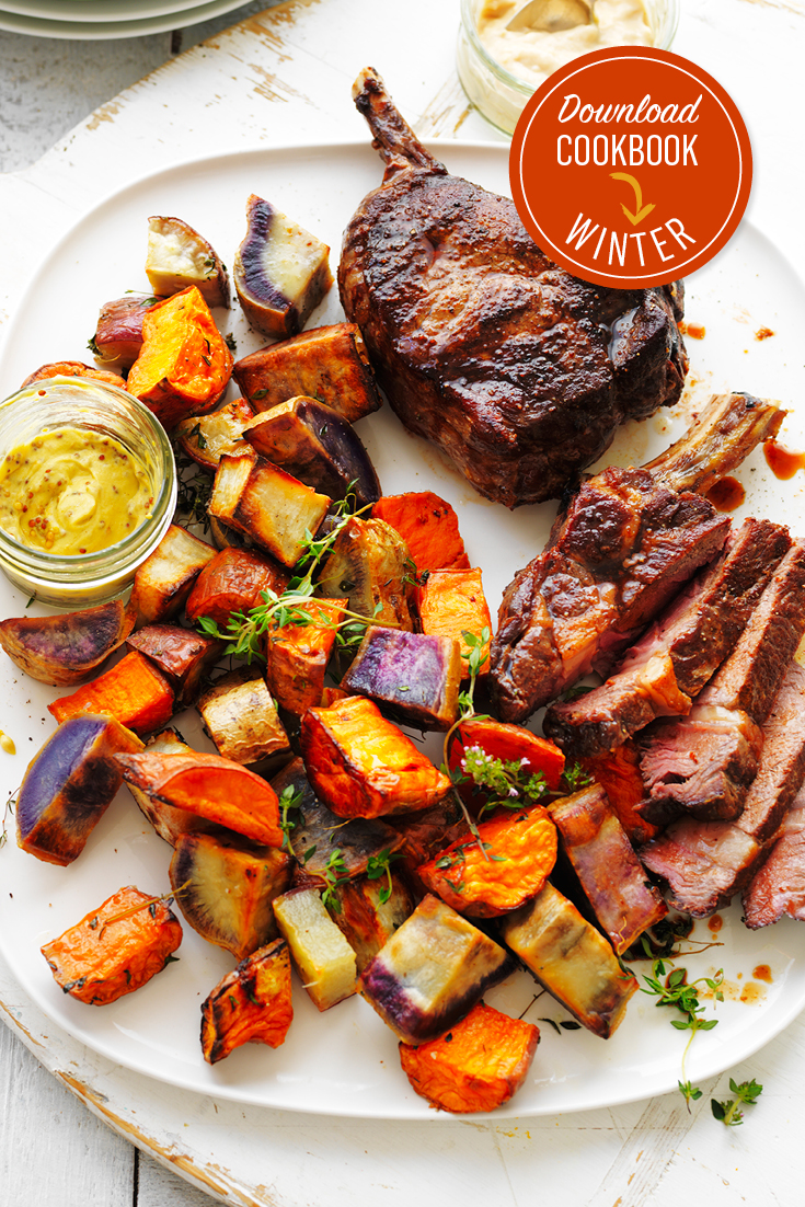 This easy roast sweet potato medley is the perfect winter side and can be paired with most meats for convenience.