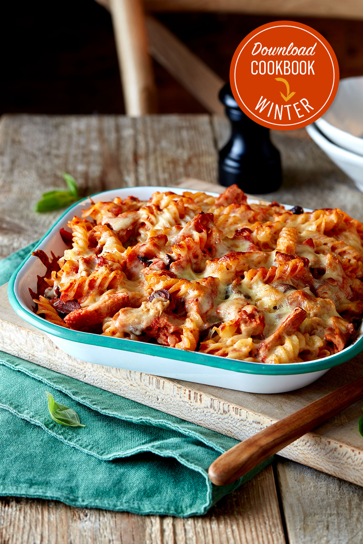This easy tuna, tomato and mozzarella fusilli bake is a quick and easy pasta bake, great for families.