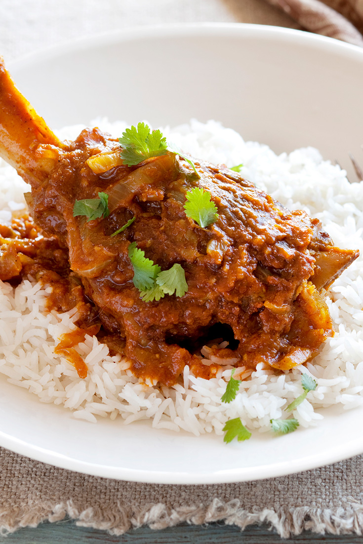 This hearty Indian style slow cooked lamb shank recipe can be done in the slow cooker or pot.