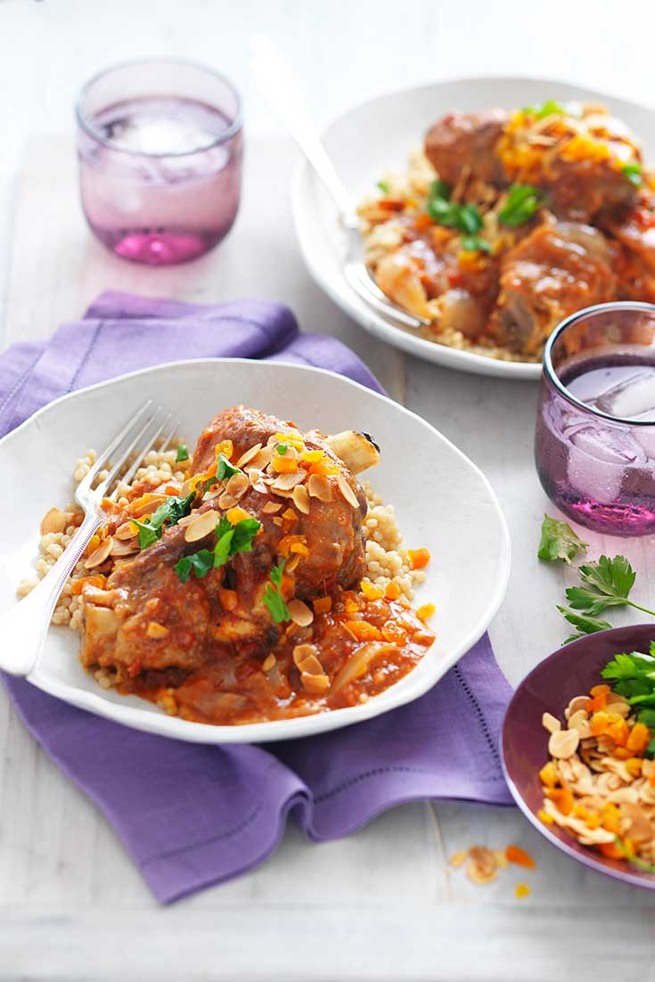 This easy lamb shank tagine a hearty family dinner idea great for winter nights.
