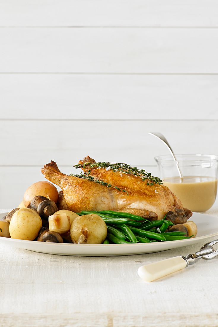 This easy and classic pot roast chicken recipe is the ultimate roast chicken great for families and dinner parties