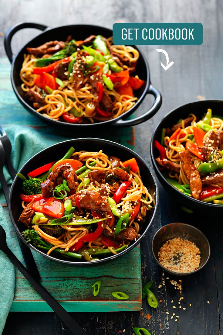 This quick and easy teriyaki beef noodles recipe is a family-friendly noodle dish great for weeknights.