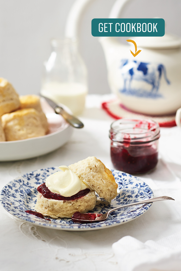 Enjoy these quick and easy lemonade scones with plenty jam and cream.