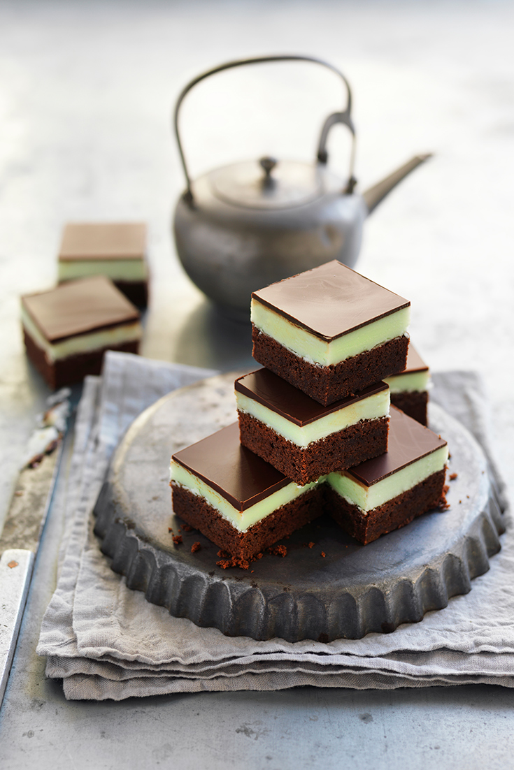This trending choc-mint brownie slice recipe is the ultimate after-dinner treat or edible gift idea.