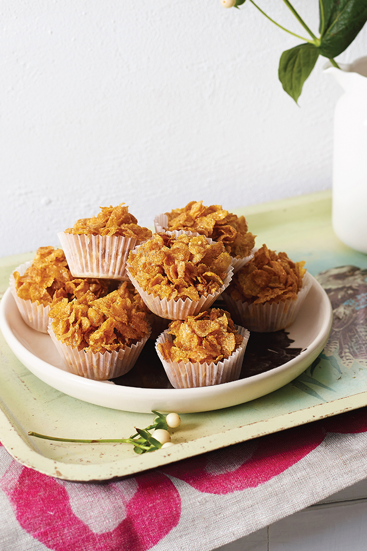 School holidays baking ideas. This easy and quick honey joy recipe is the perfect lunch box snack and includes only 4 ingredients.