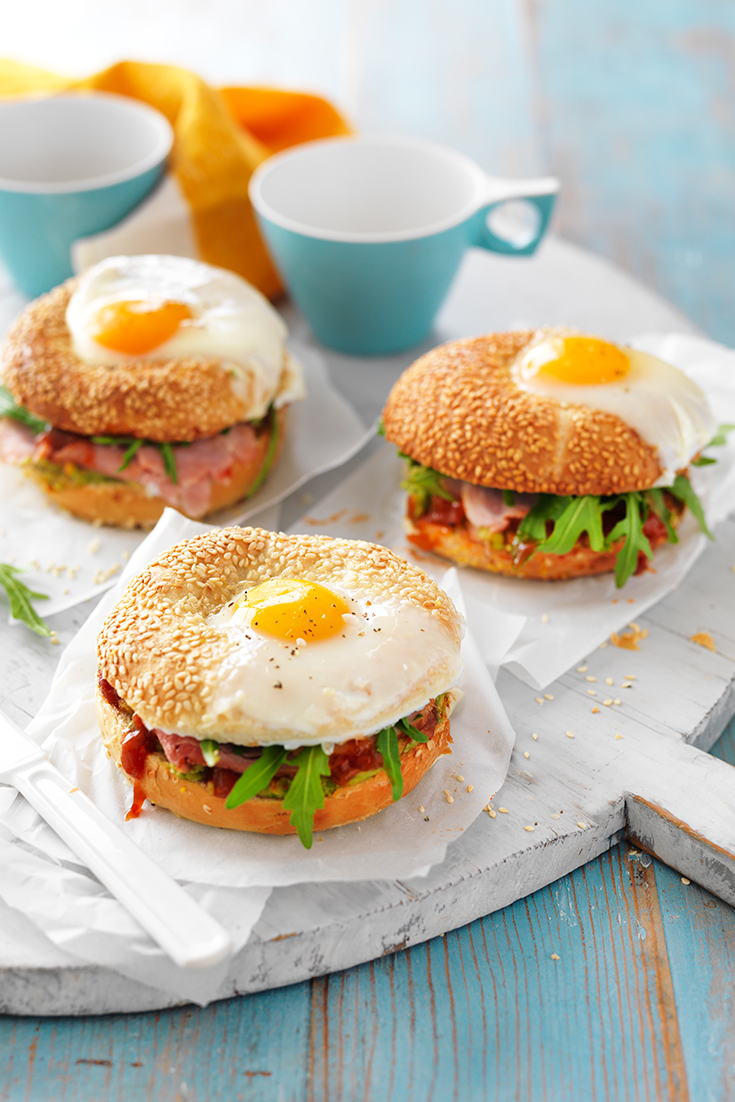 This easy brekkie bagel recipe is the ultimate breakfast on-the-go idea or perfect for weekends.