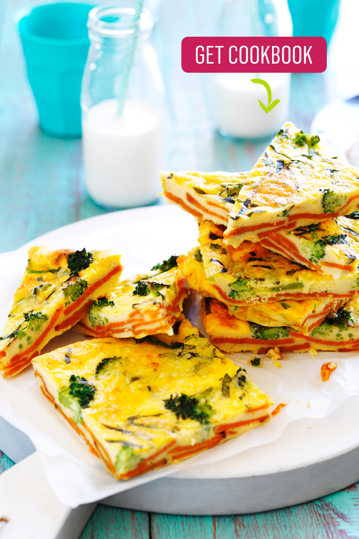 This easy sweet potato and broccoli frittata recipe is a great make-ahead lunch or dinner idea, full of fibre and nutrients.