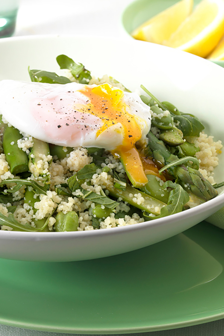 Lemon Couscous salad with broad beans