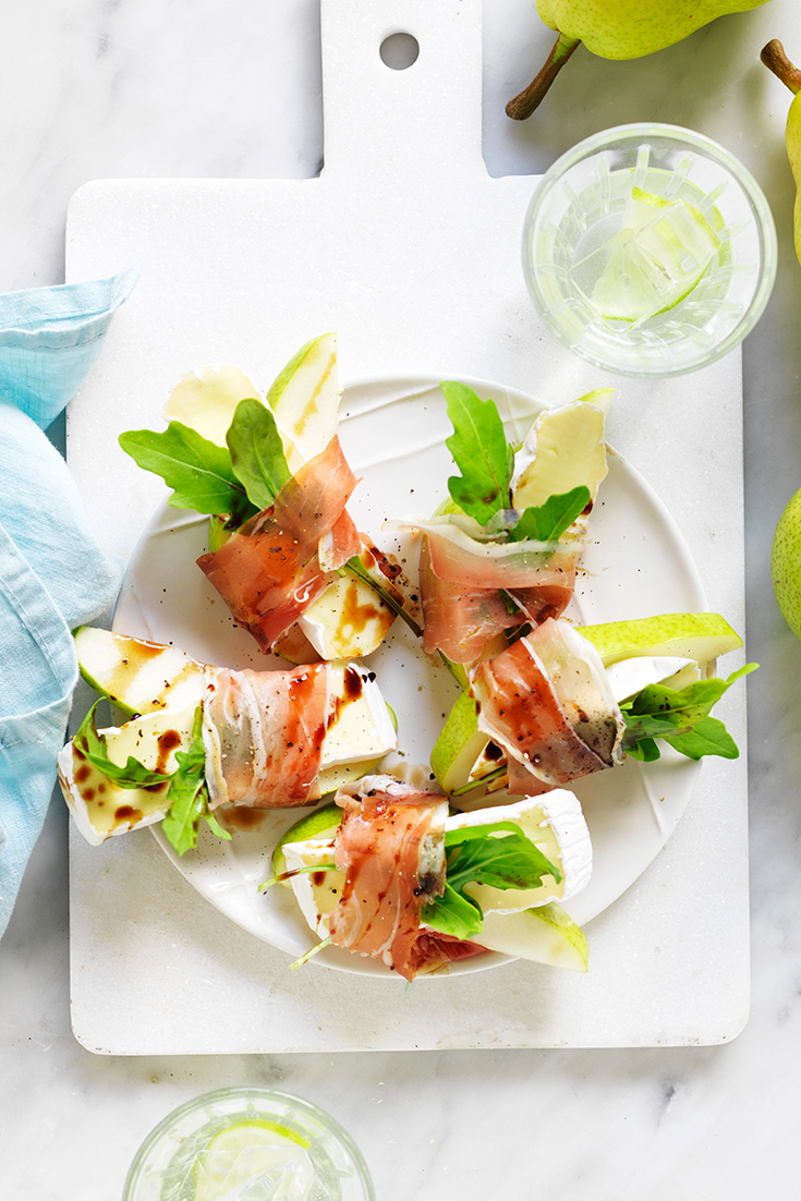 This easy pear, brie and prosciutto snack or appetiser is the perfect bite-sized dish to keep guests satisfied until the main course.