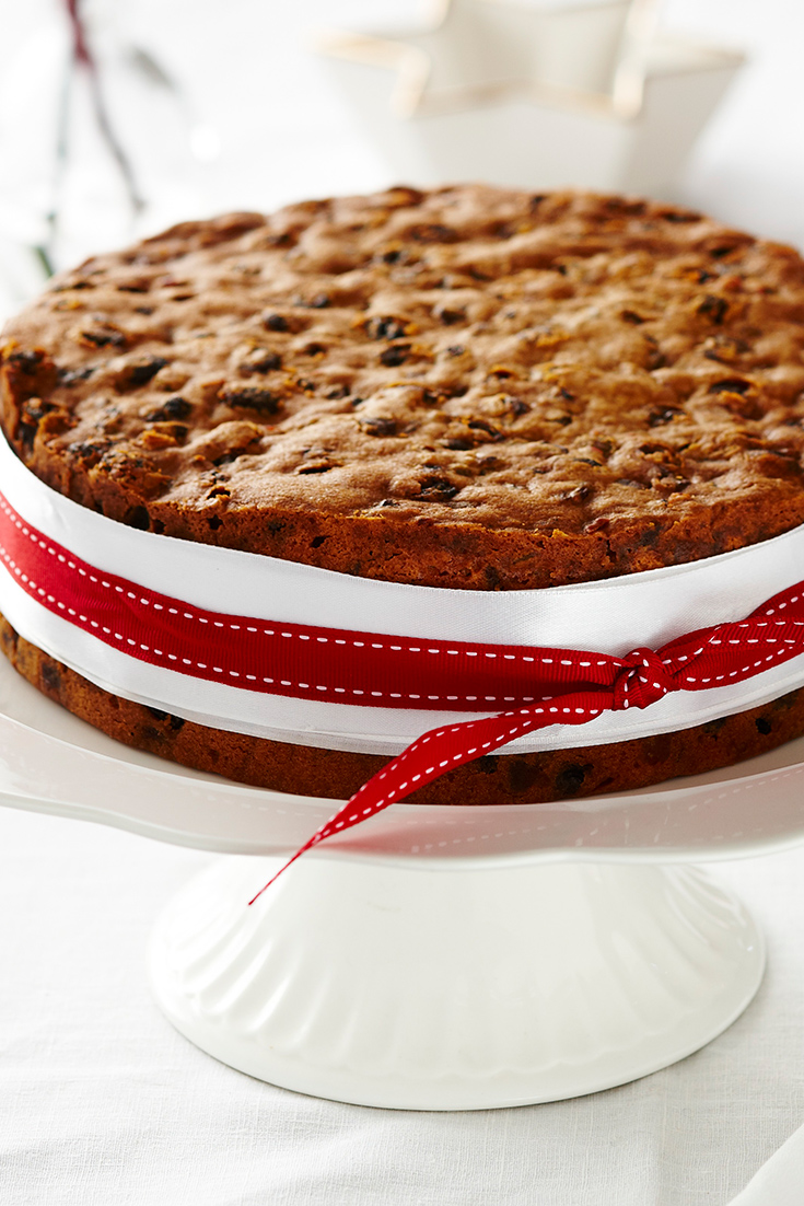 This easy Christmas cake recipe is a great dish to make-ahead of time.