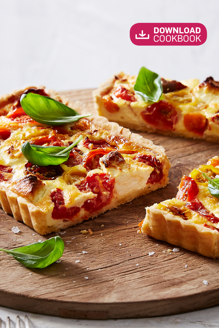 This stunning tomato and goat's cheese tart recipe is a lovely light lunch option.