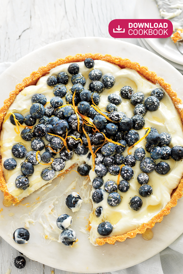This easy no-bake blueberry and sweet ricotta tart is a lovely light sweet treat to enjoy after the main meal.