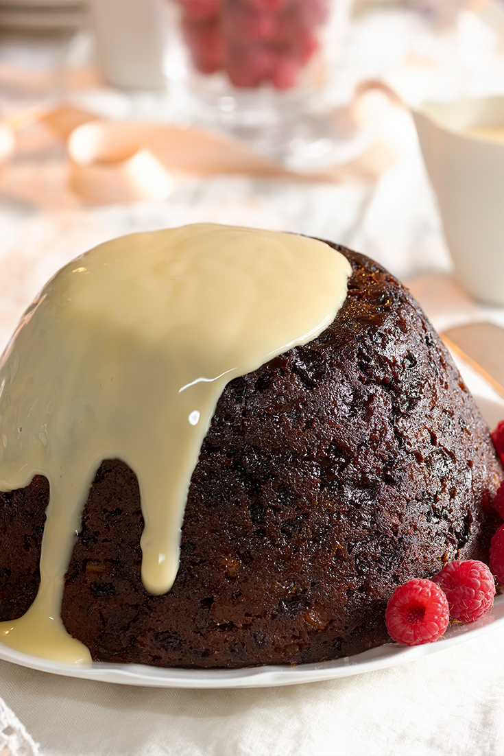 This classic Christmas pudding recipe can be made-ahead of time to take the stress out of Christmas Day.