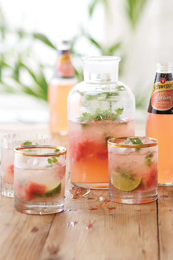 This refreshing drink is a lovely way to use watermelon.