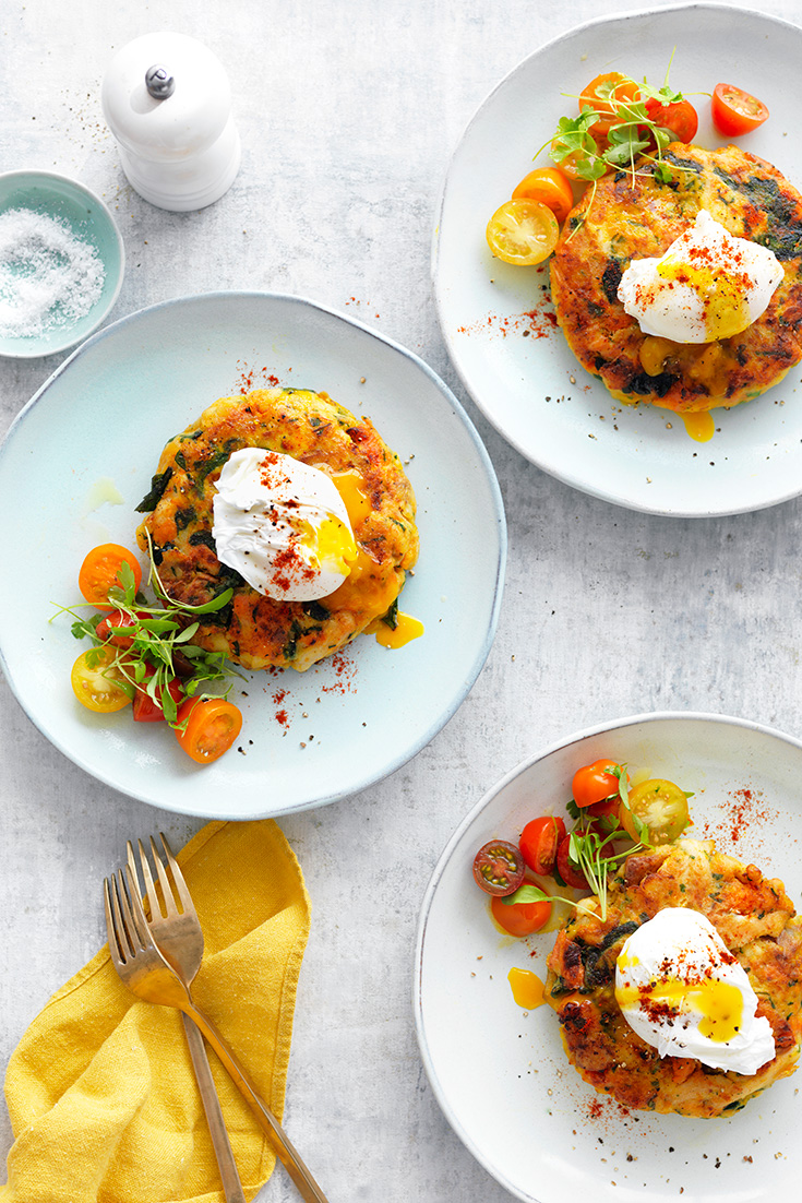 This hearty bubble and squeak fritter with turkey are the perfect dish to use-up leftover Christmas meals.
