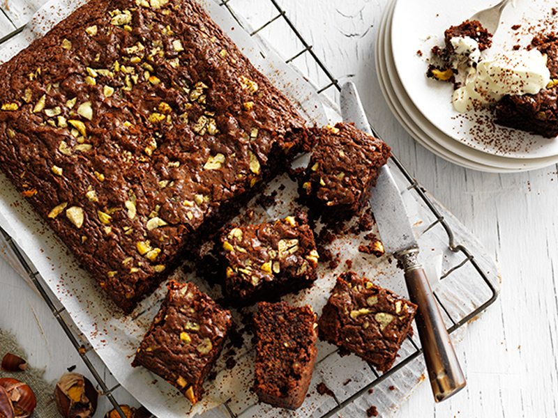 How to cook with chestnuts. Make this easy gluten-free brownie recipe.