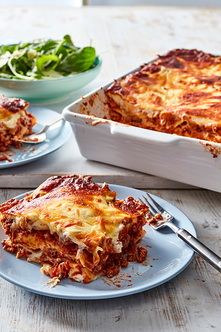 Try this classic beef lasagne recipe for an easy lasagne.