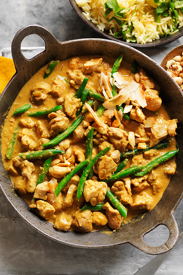 This creamy coconut chicken curry makes for a great budget winter meals