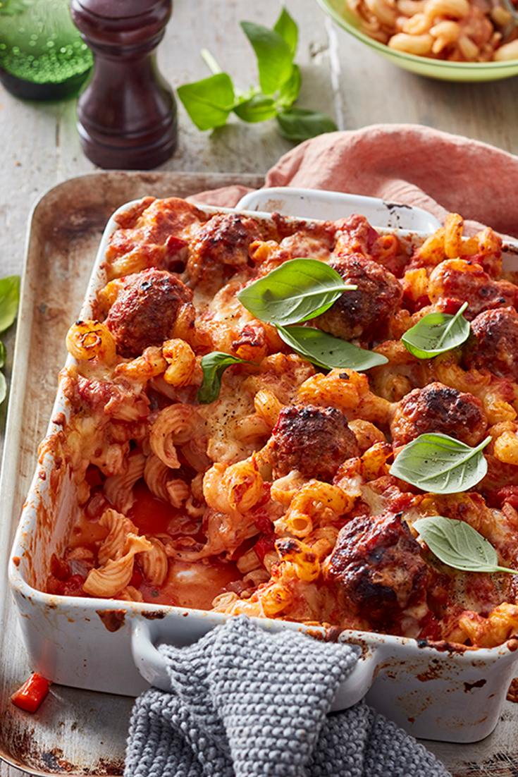 Read the how to make meatballs with mince article and then make this Italian Meatball Pasta Bake.